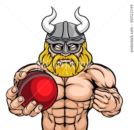 Viking Cricket Sports Mascot 48322144