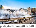 Hot water field of Kusatsu hot spring in Gunma prefecture 48322403