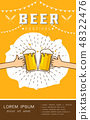 Beer festival poster Vector illustration 48322476