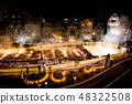 Yunabata night view of Kusatsu hot spring in Gunma prefecture Night view light up 48322508