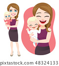 Mother Holding Baby 48324133