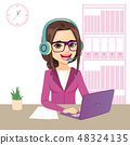 Young Call Center Operator Girl 48324135