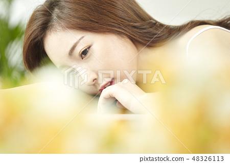 뷰티,젊은여자 48326113
