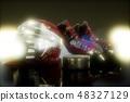 hockey equipment in the dark 48327129