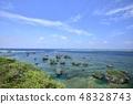 【오키나와 현 미야 코지마] 동쪽 平安名崎의 아름다운 바다 48328743