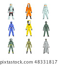 Different Workers in Protective Suits Set, Men in Professional Protective Uniform Vector 48331817