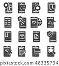 Minimal Set of Mobile Phone Flat Icons 48335734