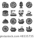 Vector Food icon set on white background 48335735