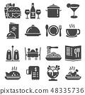 Restaurant icon set  48335736