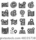 Map Icons and Location Icons Set 48335738