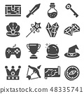 Game icon elements and items illustration 48335741