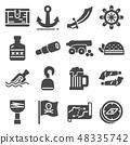 pirates icons set 48335742