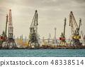 Port Cranes in the Pier 48338514