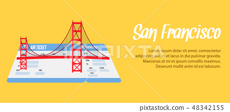 San Francisco Vector Banner, Poster with Copyspace 48342155