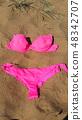 Pink bikini swimsuit 48342707