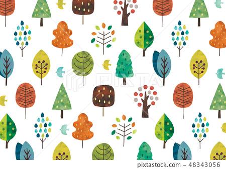 수채화의 북유럽 나무 질감 48343056