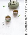 茶 绿色 杯子 48344788