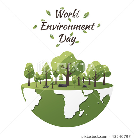 World Environment Day concept with Save the world 48346797