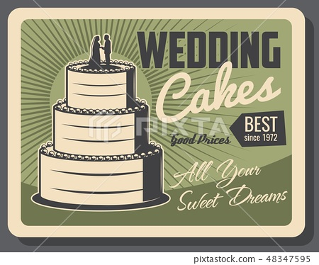 Wedding cakes and party pastry service 48347595