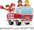 小孩 孩子 卡車 48347798