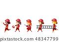 小孩 孩子 消防員 48347799