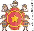 小孩 孩子 徽章 48347801