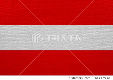 austria flag on canvas 48347938