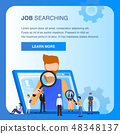 Character Job Searching Man Hold Magnifying Glass 48348137