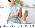 智能手機和女人 48350120