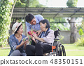 Son and daughter in law gift mother in backyard 48350151