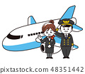Airplane and pilot men and CA women 48351442