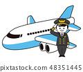 Airplane and pilot men 48351445
