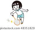 배드민턴 선수의 여자 48351829