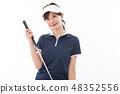 젊은 여성 골프 48352556