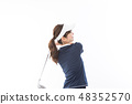 年輕的女士高爾夫 48352570