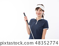 젊은 여성 골프 48352774