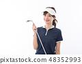 젊은 여성 골프 48352993