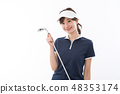 Young lady golf 48353174