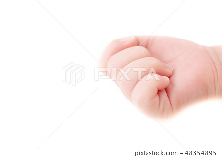 An isolated photo of a baby's hand 48354895