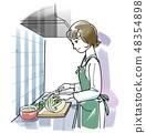 烹飪 - 粉彩 48354898