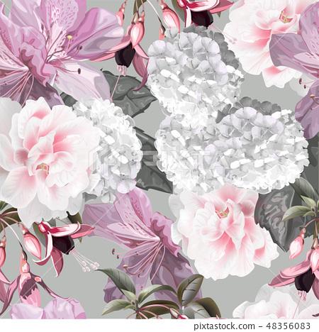 Floral seamless pattern vector illustration 48356083