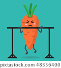 cartoon carrot health strong 48356400