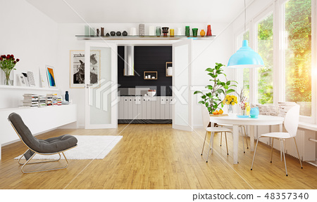modern scandinavian dining room design. 48357340
