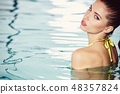 young woman beauty portrait in water 48357824