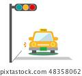 汽車車輛駕駛信號信號出租車 48358062
