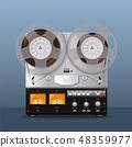 Vintage Analog Reel Tape Recorder. Retro style 48359977
