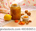 Homemade vitamin jam with honey, nuts 48360651