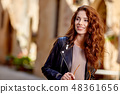 Beautiful fashion woman outdoor on the street of the old Italy t 48361656
