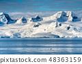 Antarctica mountains and sea 48363159