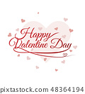 happy valentine day lettering vector background 48364194